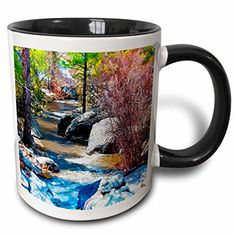 Jos Fauxtographee Miniature - View of River in Pine Valley, Utah Flowing Through Trees and Rocks and Given look of Miniature - 11oz Two-Tone Black Mug (mug_49655_4) 3dRose http://www.amazon.com/dp/B01352O3NE/ref=cm_sw_r_pi_dp_dDaZvb1XW9CY9