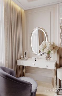 30 Modern Makeup Table Ideas to Complete Your Dream Room Home Design, Home Interior Design, Design Ideas, Dressing Room Design, Awesome Bedrooms, Luxurious Bedrooms, My New Room, Bedroom Decor, Decor Room