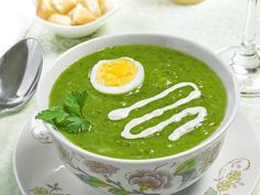 Špenátová polévka Czech Recipes, Ethnic Recipes, Soup Recipes, Cooking Recipes, Kitchen Essentials, Palak Paneer, Paleo, Food And Drink, Vegetarian