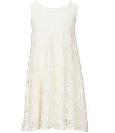 Copper Key Big Girls 716 Lace Trapeze Dress #Dillards