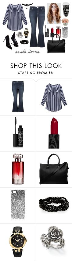 """ovalo diario"" by kikiadiario on Polyvore featuring moda, maurices, NARS Cosmetics, Lancôme, Paul & Joe, Topshop, Versace, Natures Jewelry y Könitz"