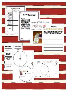 For Presidents Day, why not celebrate by learning the process the led to the Oval Office?  This packet includes ideas for holding a class election along with research ideas.