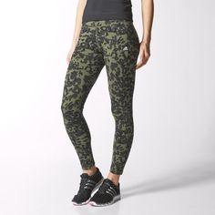 adidas Calzas Estampadas de Training Team Mujer - Verde | adidas Argentina