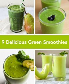Healthy Smoothies Recipe 9 Delicious Green Smoothie Recipes (including one of my recipes! Green Smoothie Cleanse, Healthy Green Smoothies, Good Smoothies, Healthy Juices, Smoothie Drinks, Breakfast Smoothies, Healthy Drinks, Detox Juices, Avocado Smoothie
