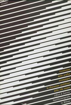 Franco Grignani Alfieri Lacroix - tipolitozincografia in Milano - l'evoluzione della grafica accompagna la dimensione quotidiana della vita umana-Plakat