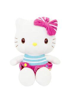 """Hello Kitty Colección Kitty Fruits. Peluche 10"""": $ 29.02 (Sin I.V.A.). Peluche de 8"""": $ 19.53 (Sin I.V.A.)."""