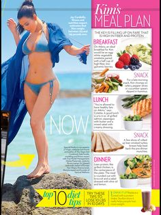 Kim Kardashian No Carbs Diet | OK Magazine, April 2014 (4.9.14)