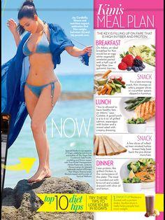 Kim Kardashian No Carbs Diet | OK Magazine, April 2014 (4.9.14)