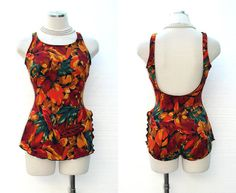 Vintage 70s Swimsuit / 1970s Swimsuit / by BreesVintageRevivals, $45.00