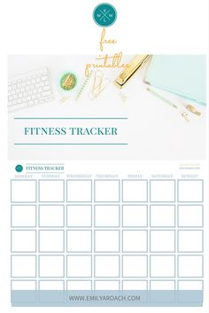 FREE PRINTABLES: Set your exercise goals, get your workout plan together and track your progress with our printable fitness tracker templates. Get inspired, make healthy changes and move toward your health and fitness goals. http://emilyaroach.com/summer-fitness-essentials/