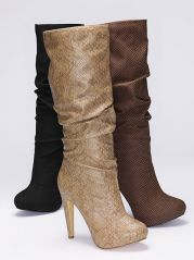 Colin Stuart Scrunch Boot-one of my must-haves for dresses, jeans and leggings!