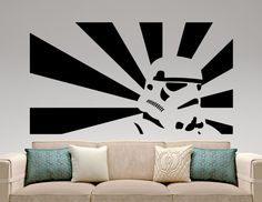 Stormtrooper Sticker Star Wars Wall Decal Movie Design Art Decoration Mural Bedroom Wall Decor Home Interior Removable Decal 10ewsx