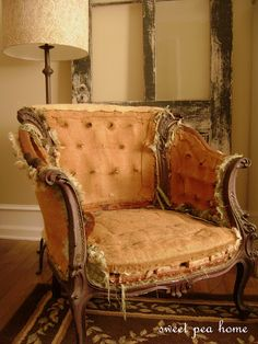 deconstructed chair, personified.   not for everyone, mind you.   but, definitely for me.