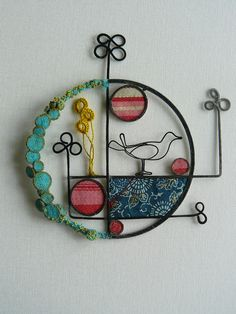 Love these mixed mediums creations; see more on her website  Liz Cooksey ~ Textile Artist .
