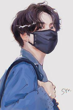Jungkook Hot, Jungkook Fanart, Foto Jungkook, Kpop Fanart, Art Drawings Sketches Simple, Bts Drawings, Bts Sleeping, Bts Anime, Bts Polaroid