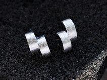 925 Sterling silber-Torsion-Ohrring-Geometrie