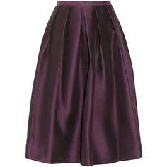 Tibi Simona pleated jacquard skirt ($610) via Polyvore