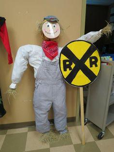 Railroad Man Scarecrow