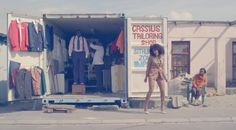 "Solange Knowles wearing ASOS in ""Losing You"" music video directed by Melina Matsoukas in Cape Town, South Africa 2012."