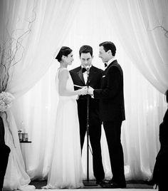Colleen and Michael say I do. Photo: Husar Photography