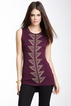 Aztec Studded Top