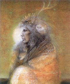 Fox Maiden by Susan Seddon Boulet The subject is a kitsune, a shape-shifting fox spirit. Description from indulgy.com. I searched for this on bing.com/images