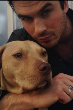Ian Somerhalder and his dog Nietzsche ♥