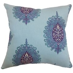 Perigueux Damask Cotton Throw Pillow