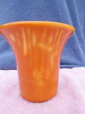 Large Akro Agate Art Deco Vase RARE PUMPKIN COLOR