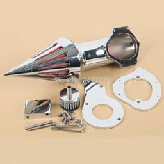 Motorcycle Air Cleaner Intake Filter For Honda Shadow VT600C VLX600 VLX Deluxe Chrome