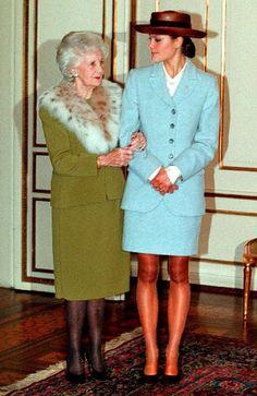 Crown Princess Victoria with her grandmother, Princess Lilian, Duchess of Halland