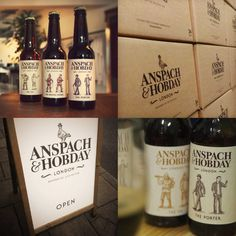Award winning branding project for start up craft beer clients Anspach & Hobday. #design #graphicdesign #type #typography #logo #branding #illustration #packaging #craftbeer #beer