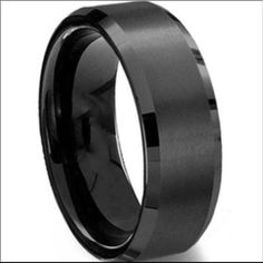 8MM Black Titanium Ring Wedding Band Brand new Price firm No trades I do bundle  All sizes available   Titanium steel metal is tougher than stainless steel will not rust tarnish or change colors and will not turn your finger green.                                        ~Ring box included ~ Jewelry Rings