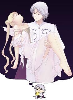 Imagem de sailor moon, anime, and prince diamond