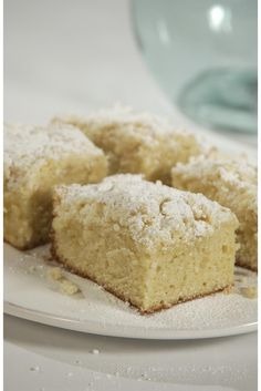 Classic Crumb Cake Recipe- This dense, moist cake is a perfect base for its white sugar crumb topping