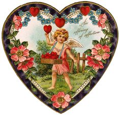 Vintage Valentine Broach Pin Cut Out Valentines Greetings, Vintage Valentine Cards, Valentine Crafts, Vintage Cards, Vintage Postcards, Vintage Images, Funny Valentine, Valentine Heart, Dossier Photo