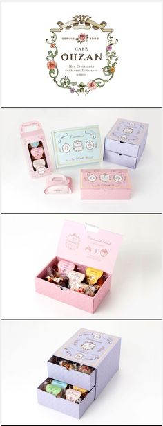 #cafe OHZAN pretty in pastel #packaging PD: