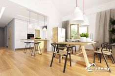 Hawana - Dobre Domy Flak & Abramowicz Home Technology, Design Case, House Plans, Living Spaces, Dining Table, House Design, Furniture, Home Decor, Houses