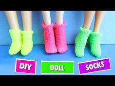 DIY | How to make Doll Socks - Easy Doll Crafts - Simplekidscrafts - YouTube
