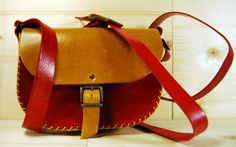 red/yellow crossbody purseWomen Leather by upArt8 on Etsy