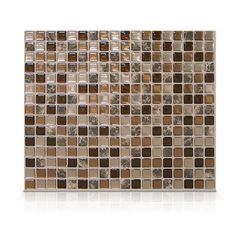 "Mosaik Minimo Roca 11.55"" x 9.64"" Peel & Stick Wall Tile in Brown"