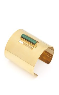 Single Malachite Cuff by Kelly Wearstler for Preorder on Moda Operandi