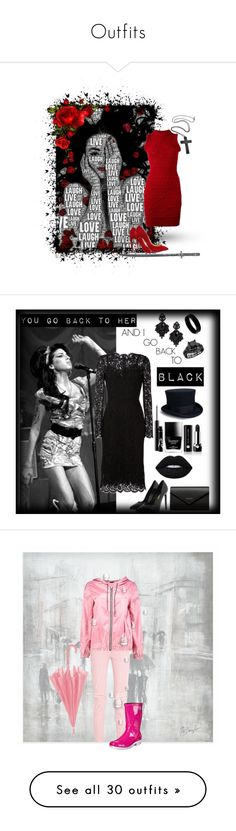 """""""Outfits"""" by yoloser ❤ liked on Polyvore featuring Dsquared2, Christian Louboutin, Amy Winehouse, Dolce&Gabbana, Yves Saint Laurent, Balenciaga, Tasha, West Coast Jewelry, Butter London and Marc Jacobs"""