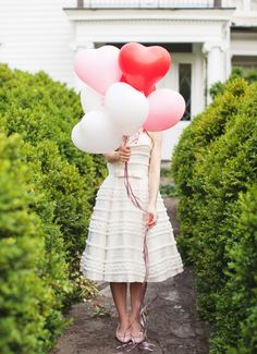 i love you balloons #pink #bachelorette #hen #party