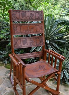 A traditional Costa Rican rocking chair. You can see these chairs being made in Sarchi.