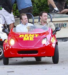 Scott Caan and Alex O'Loughlin drove this tiny car. | 18 Things Celebrities Did This Week