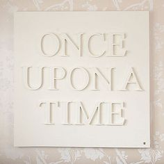 once upon a time sign  make with stickers???