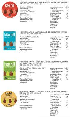 Kite Hill   Nutritional