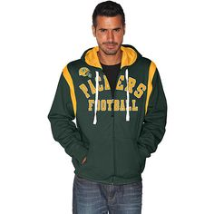 Men's G-III Green Bay Packers TKO FZ Hooded Sweatshirt ~ ESPN Shop $59.99