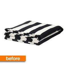 Before & After: A Graphic IKEA Throw Gets Some Surprising Style